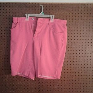 2 for $20 Women's Pink Cotton Bermuda Shorts